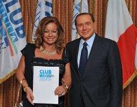 Flora Beneduce con Silvio Berlusconi