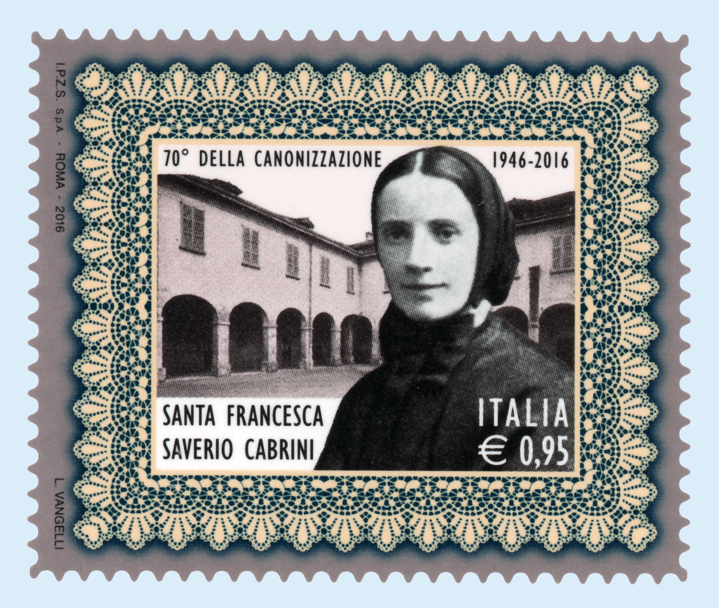 ROMA – Il Ministero dello Sviluppo Economico emette oggi 7 luglio 2016 un francobollo commemorativo di Santa Francesca Saverio Cabrini nel 70° anniversario della canonizzazione. Il francobollo è stampato dall'Istituto […]