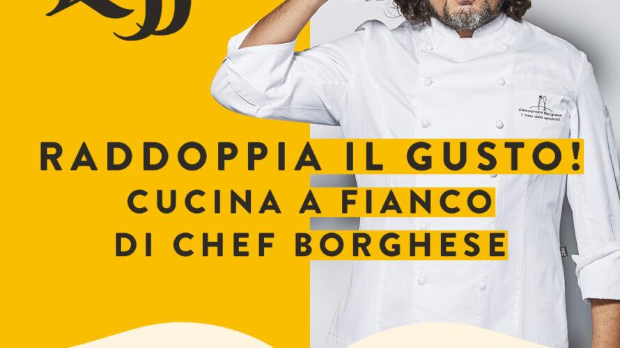 """Leffe – storico marchio AB InBev – ha dato vita il 25 aprile all'iniziativa di successo """"Raddoppia il gusto! Cucina a fianco di Chef Borghese"""", in cui il famosissimo Chef […]"""